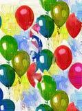 Globos coloreados Foto de archivo libre de regalías