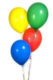 Globos coloreados primarios del partido foto de archivo libre de regalías