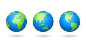 Globos coloreados vector del mapa del mundo libre illustration