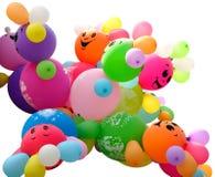 Globos coloridos aislados Imagen de archivo libre de regalías
