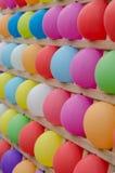 Globos coloridos como blancos Fotografía de archivo