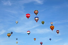 Globos coloridos del aire caliente Imagen de archivo