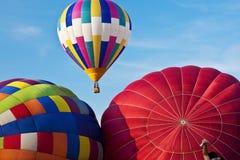 Globos coloridos del aire caliente Imágenes de archivo libres de regalías
