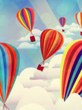 Globos coloridos del aire caliente Fotografía de archivo libre de regalías