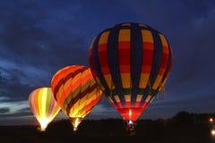 Globos coloridos del aire caliente Foto de archivo