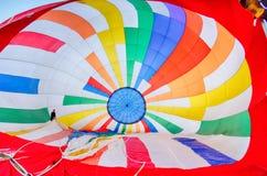 Globos coloridos del aire caliente en el festival Imagen de archivo libre de regalías
