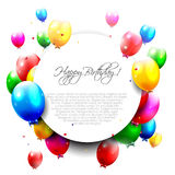 Globos coloridos del cumpleaños ilustración del vector