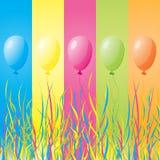 Globos coloridos del día de fiesta libre illustration