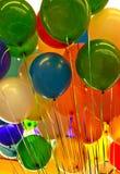 Globos coloridos del partido Imagen de archivo libre de regalías