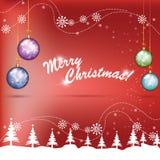 Globos coloridos do Natal Fotografia de Stock