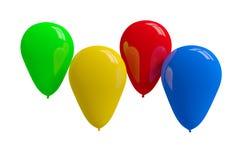Globos coloridos en blanco Foto de archivo libre de regalías