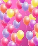 Globos coloridos fijados Imagen de archivo