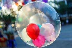 Globos coloridos, globos Imagen de archivo libre de regalías