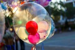 Globos coloridos, globos Fotografía de archivo