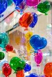 Globos coloridos hechos del vidrio veneciano de Murano Fotografía de archivo libre de regalías