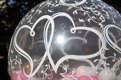 Globos con los corazones Foto de archivo libre de regalías