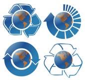 Globos da ecologia ilustração do vetor