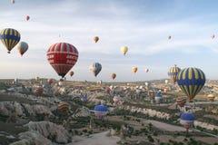 Globos de Cappadocia Foto de archivo libre de regalías
