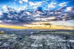 Globos de Cappadocia Imagen de archivo libre de regalías