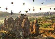 Globos de Cappadocia del globo fotos de archivo
