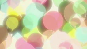 Globos de cristal coloridos de la palabra que se alzan La comunicación relacionó la animación loopable 3D almacen de metraje de vídeo