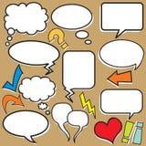 Globos de discurso stock de ilustración