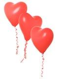 Globos de la tarjeta del día de San Valentín Foto de archivo libre de regalías