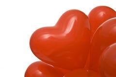 Globos de la tarjeta del día de San Valentín Imágenes de archivo libres de regalías