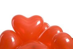 Globos de la tarjeta del día de San Valentín Fotografía de archivo