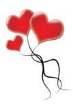 Globos de la tarjeta del día de San Valentín Imagen de archivo libre de regalías