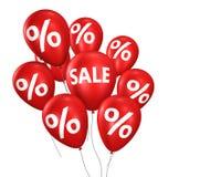 Globos de las compras de la venta y del descuento Imágenes de archivo libres de regalías