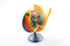 Globos de las naranjas Foto de archivo