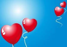Globos de las tarjetas del día de San Valentín Imágenes de archivo libres de regalías