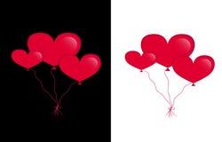 Globos de los corazones Imágenes de archivo libres de regalías