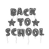 Globos de nuevo a negro de la escuela Fotos de archivo