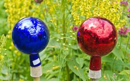 Globos de vidro lustrosos coloridos Fotografia de Stock