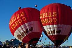 Globos de Wells Fargo Imágenes de archivo libres de regalías