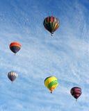 Globos del aire caliente Fotos de archivo libres de regalías