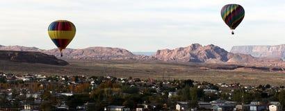 Globos del aire caliente de Arizona Imagen de archivo libre de regalías