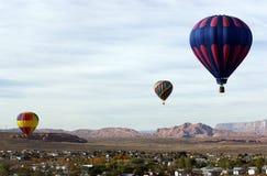 Globos del aire caliente de Arizona Imágenes de archivo libres de regalías