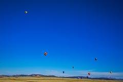 Globos del aire caliente de Colorado Imagen de archivo