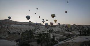 Globos del aire caliente de Turquía Imagen de archivo libre de regalías