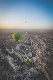 Globos del aire caliente de Turquía Fotografía de archivo libre de regalías