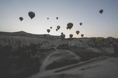 Globos del aire caliente de Turquía Fotos de archivo