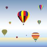 Globos del aire caliente en aire Festival, día de fiesta de los globos del aire caliente Fotografía de archivo