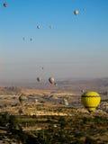 Globos del aire caliente en Cappadocia Fotografía de archivo libre de regalías
