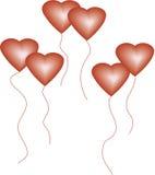Globos del amor Stock de ilustración