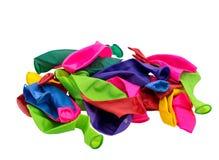 Globos del color aislados Imagen de archivo libre de regalías