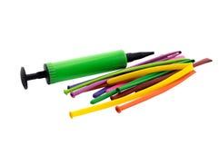 Globos del color aislados Foto de archivo libre de regalías