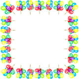 Globos del color. decoración del partido Foto de archivo